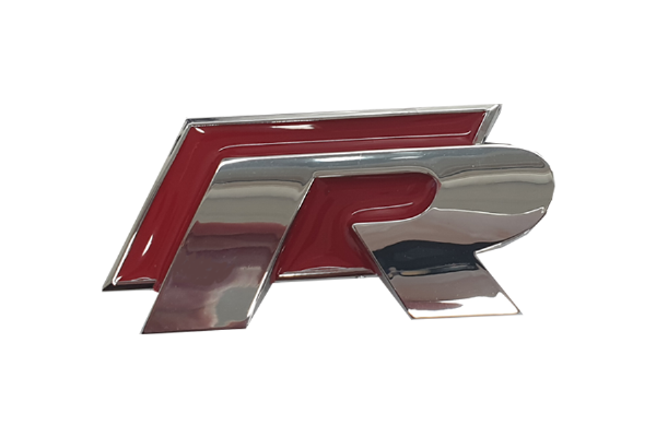 Red & Silver 'R' Badge